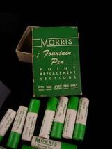 12 vintage morris Fountain pen nibs - original box -  gold replacement - calligr image 5