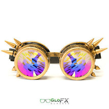 GloFX Brass Spike Kaleidoscope Goggles High Quality Hard-Coated Brass Polymer  - $51.99