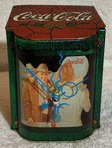 Old 1981 Coke Coca Cola X'max Tin Tank Cans Desk Table Music Box + Quartz Clock image 1
