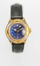 Fossil Women Watch Leather Black Stainless Silver Gold Water Re Blue Batt Quartz - £25.58 GBP
