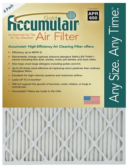 13.75 x 24.75 14x25x1 2 Pack DuPont High Allergen Care Electrostatic Air Filter