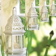 20 White Moroccan Style Lantern Candleholder Wedding Centerpieces image 4