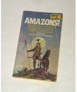 Vtg 1979 DAW paperback book Amazons! Jessica Salmonson Michael Whelan Sc... - $4.00
