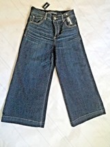 Express Women Culottes Size 6 Jeans High Rise Cropped Pants  Dark Blue Wash New - $29.17