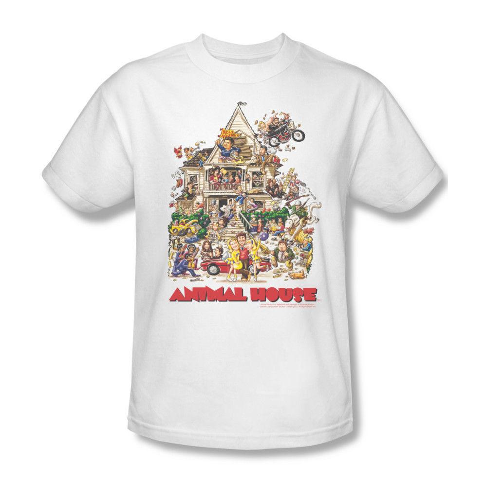 ANIMAL HOUSE T-shirt 100% cotton John Belushi Delta House retro UNI131