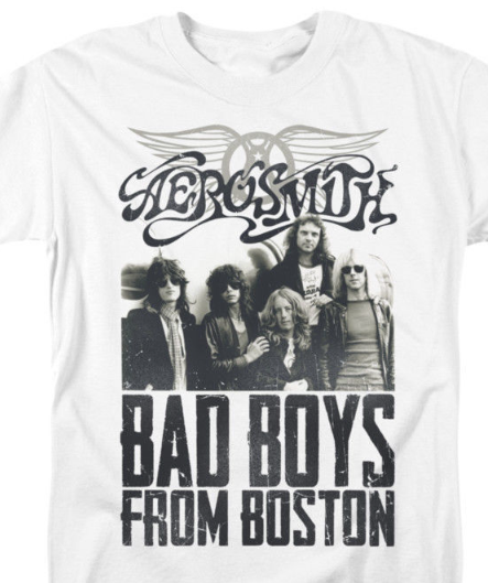 Aerosmith Bad Boys T-shirt retro 70's classic rock 80's metal 100% cotton tee
