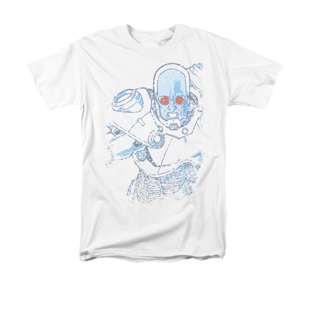 Mr. Freeze T-SHIR Snowblind Batman Gotham DC comics 100% cotton graphic tee