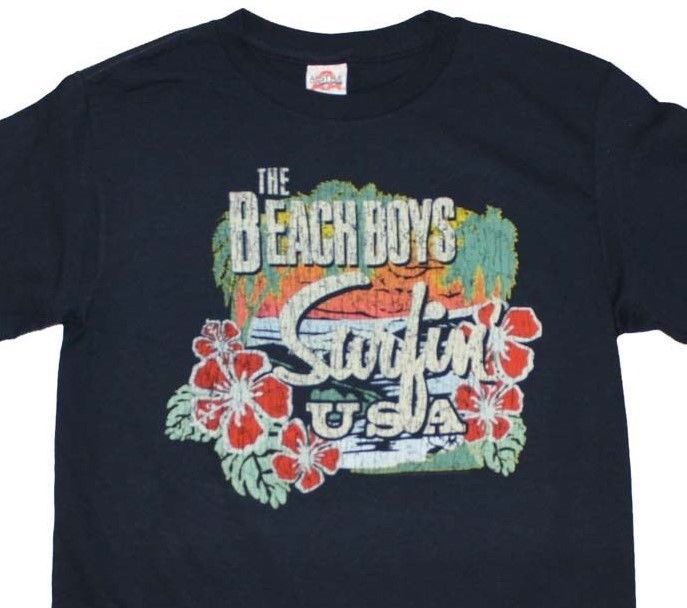 Beach Boys T-Shirt Surfin' USA retro 60's rock 'n roll printed cotton tee