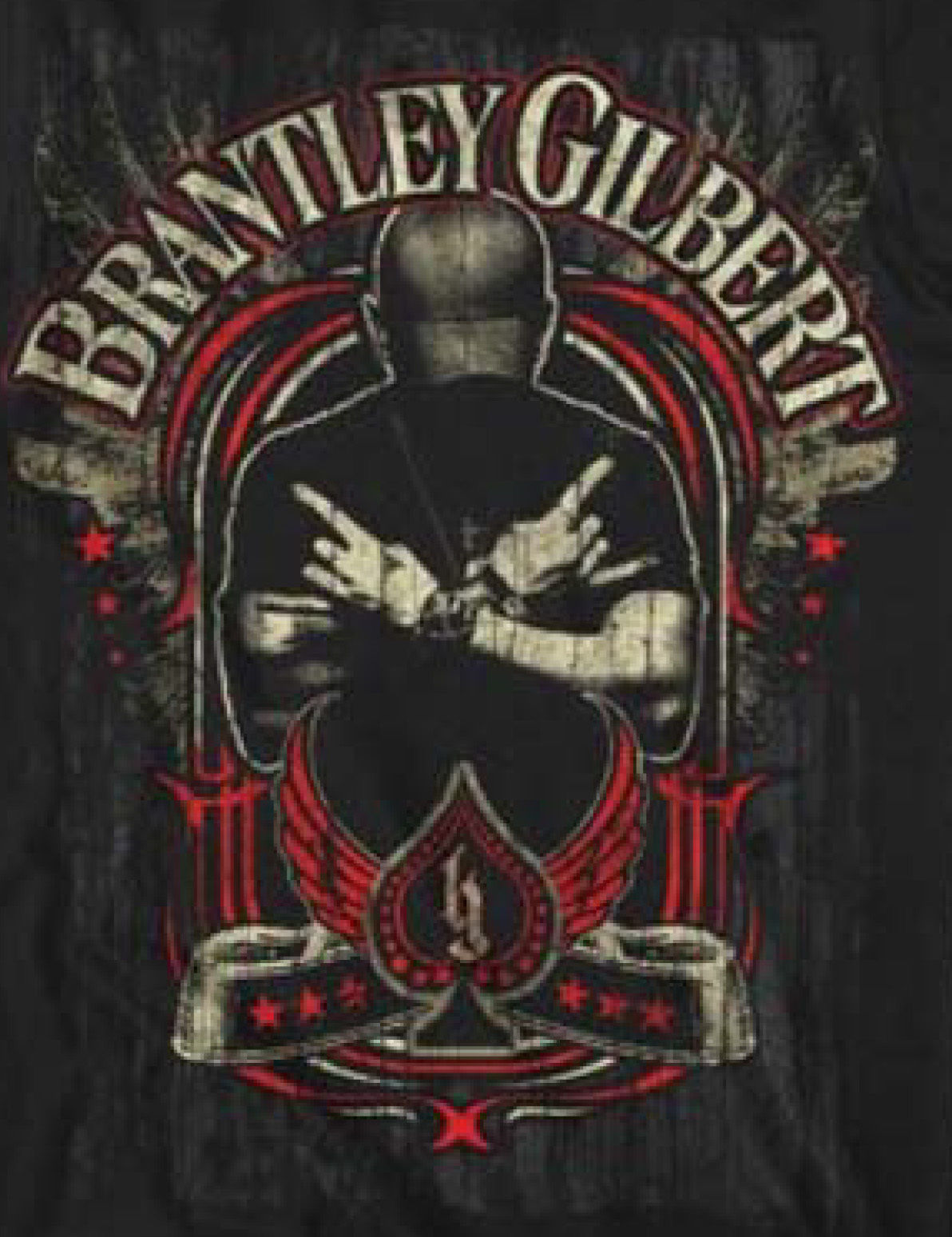 Brantley Gilbert T-shirt Crossed Arm cool country redneck rock music concert tee