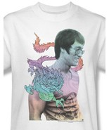 Bruce Lee T-shirt Enter Dragon  white retro vintage graphic cotton tee B... - $19.98+