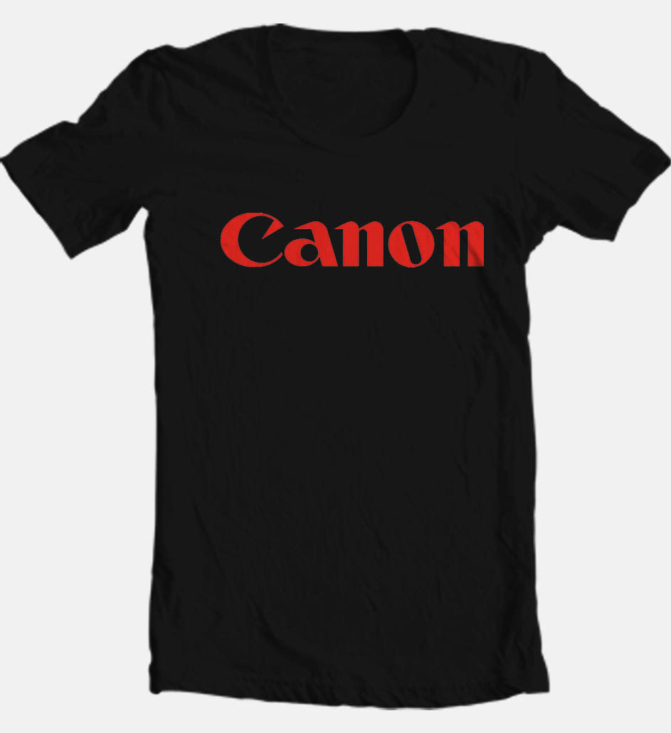 Canon Black T-shirt retro 1970's camera vintage 80's film 100% cotton tee