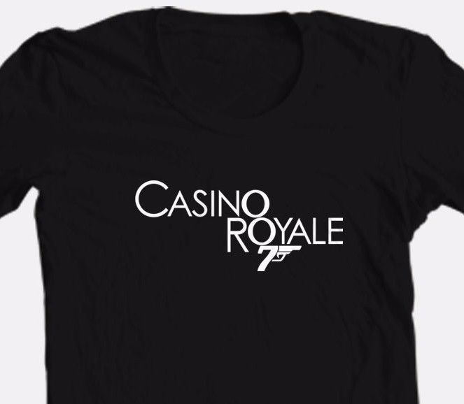 Casino Royal logo T shirt black 007 James Bond movie retro cotton graphic tee