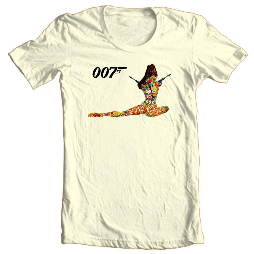 Casino Royale 007 T-shirt James Bond retro 1970's movie vintage 100% cotton tee