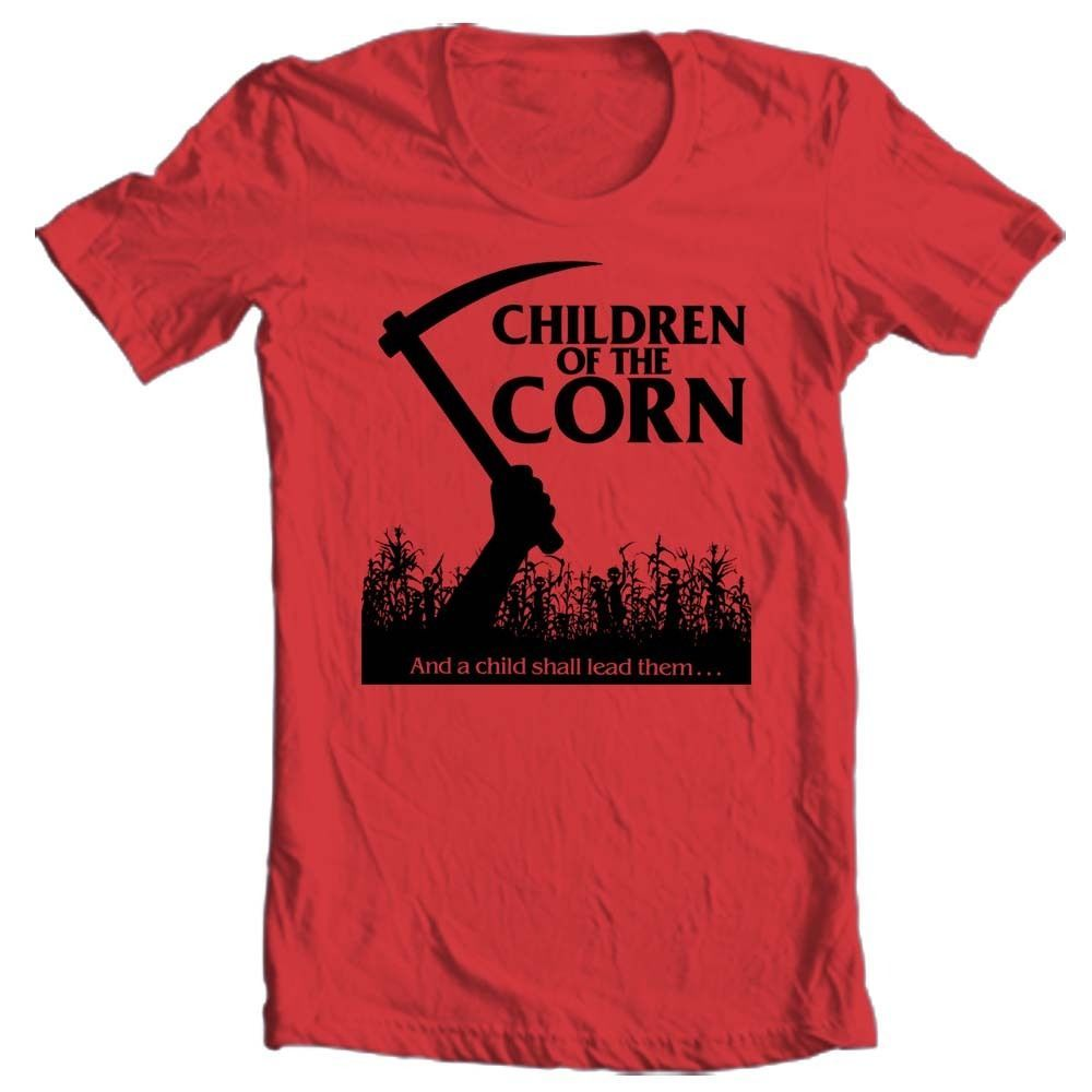 Children of the Corn t-shirt retro horror film Stephen King The Shining Cujo 80s