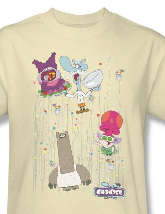 Chowder Dots Collage T shirt funny cool cartoon network cotton t-shirt cn237