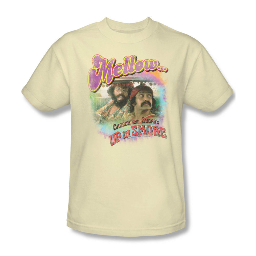 Cheech & Chong T-shirt Up in Smoke retro 80's 100% cotton graphic tee PAR137