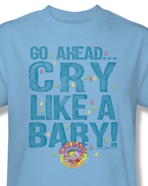 Cry Baby T-shirt retro 80's sour candy retro 80's blue cotton graphic tee DBL152