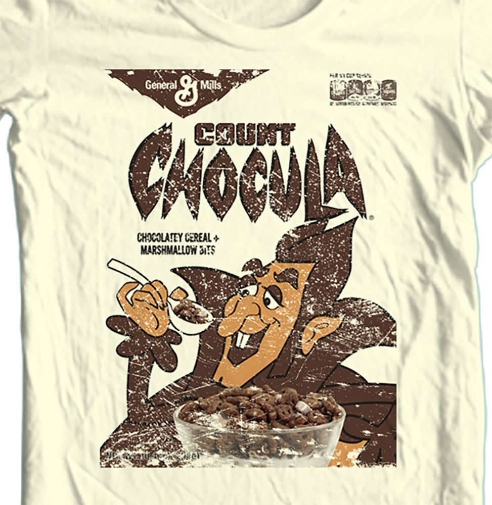 Count Chocula T-shirt Monster cereal box Boo Berry Frankenberry cotton