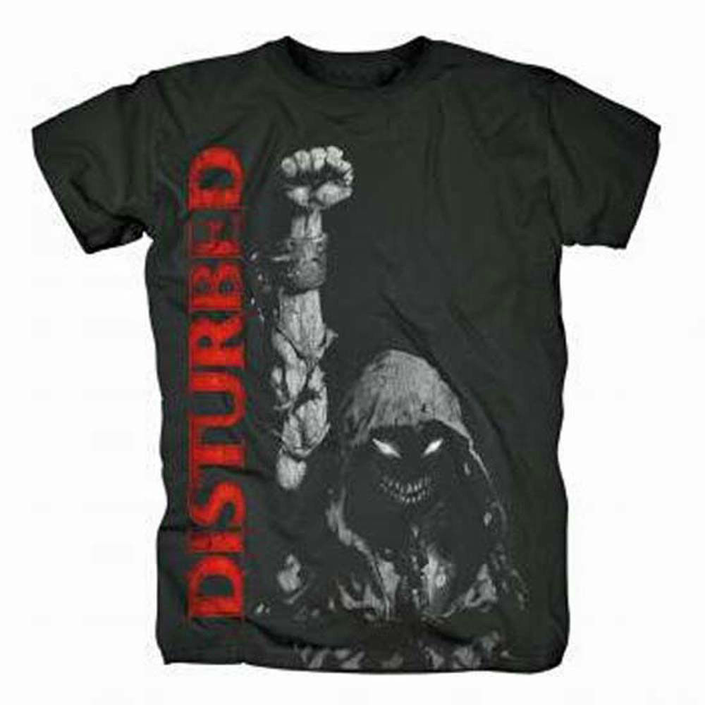 Disturbed Up Your Fist T-Shirt Heavy Metal Rock 100% cotton black tee