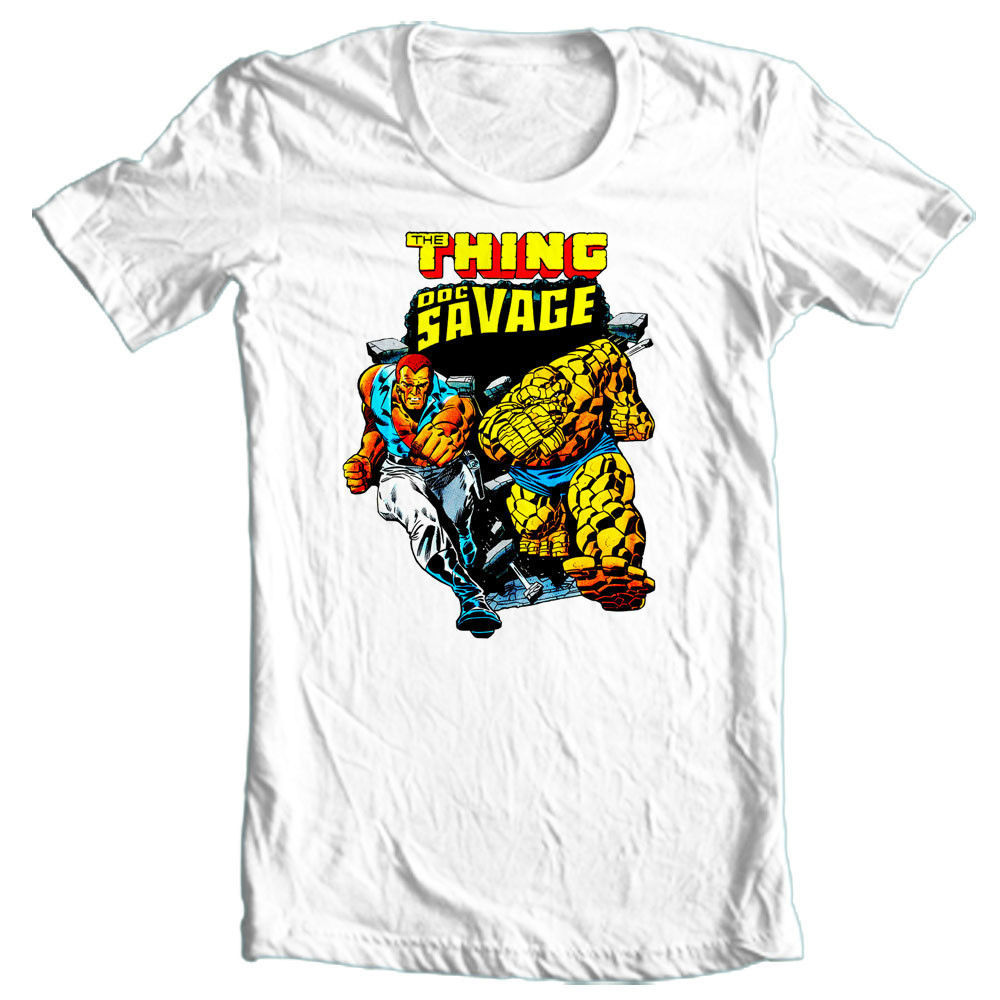Doc Savage T-shirt Marvel DC Silver Age retro 70's comics all sizes graphic tee