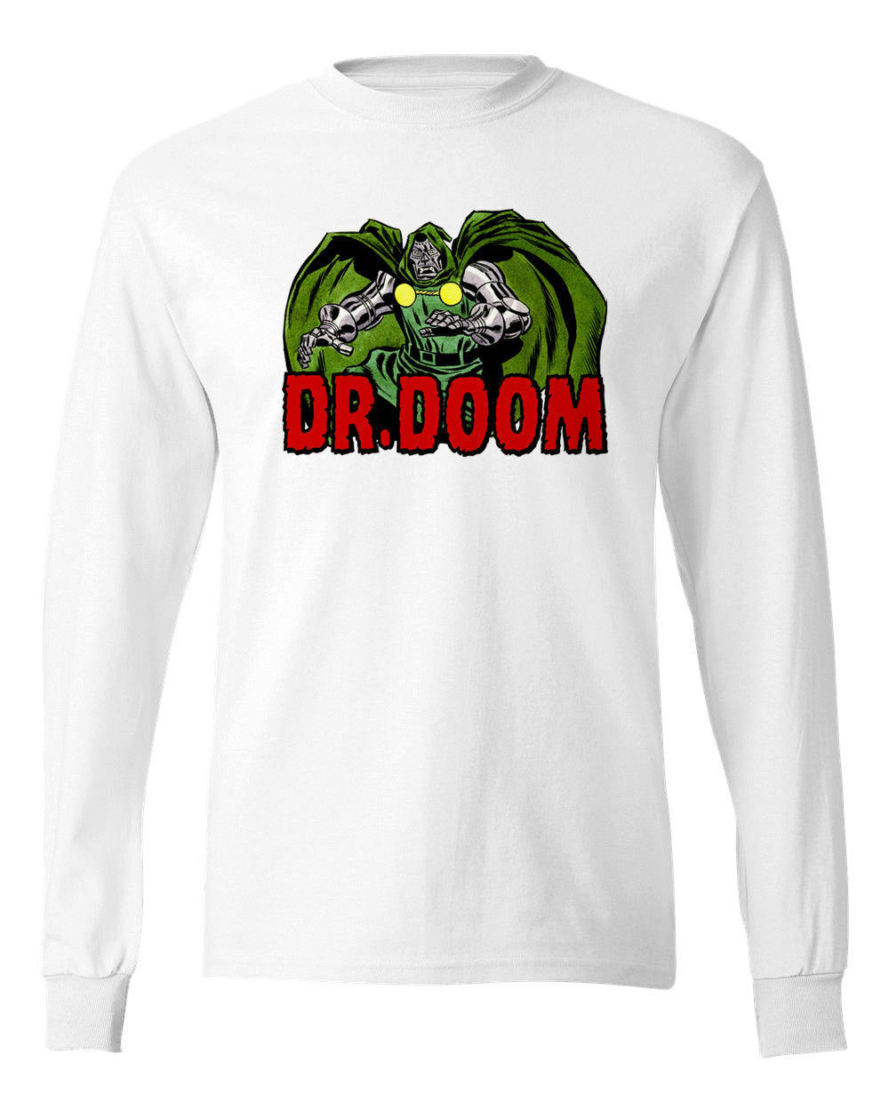 Dr. Doom T-shirt Long Sleeve  Marvel Comics Fantastic Four cotton  graphic tee