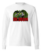 Dr. Doom T-shirt Long Sleeve  Marvel Comics Fantastic Four cotton  graphic tee image 1