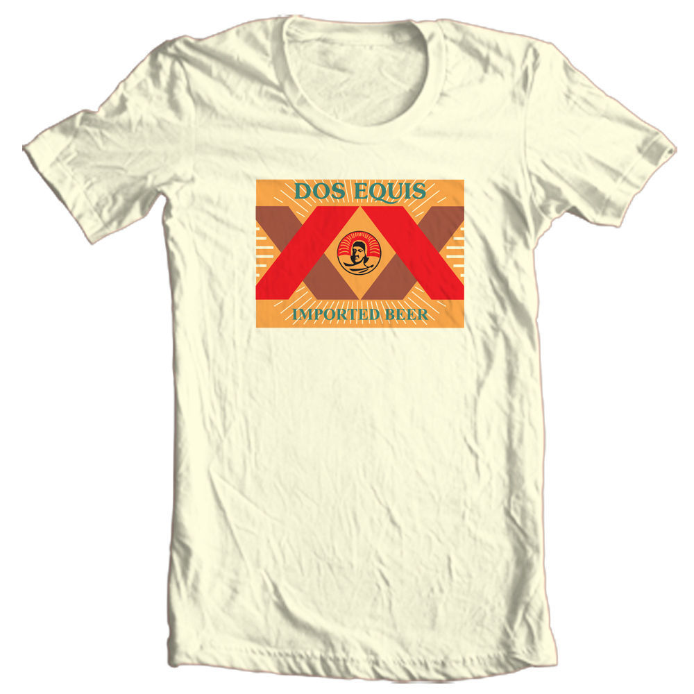 Dos Equis XX's beer T-shirt Cervesa Mexican 100% cotton graphic tee