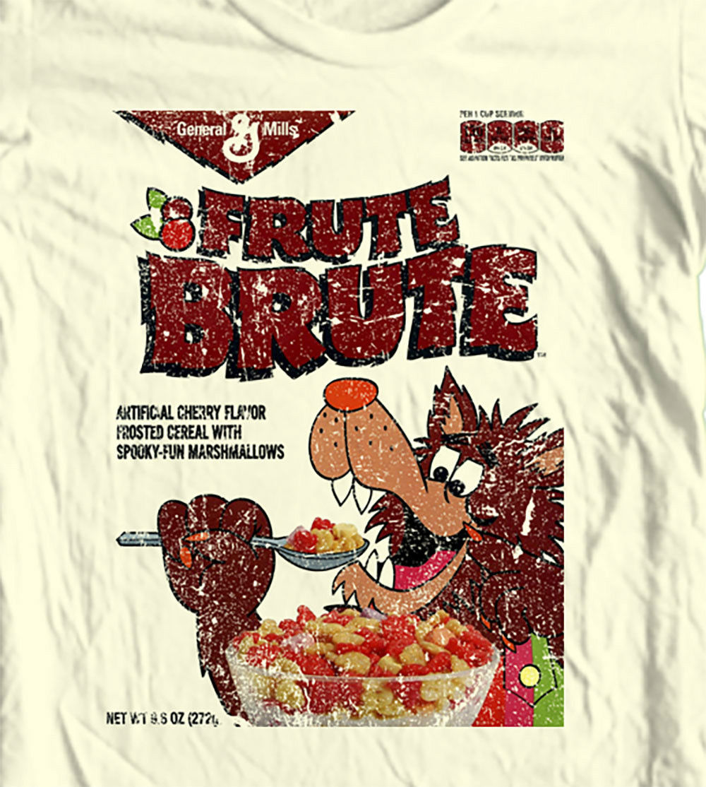 Fruit Brute retro Cereal box T-shirt Boo-Berry Count Chocula 70's 80's cartoons