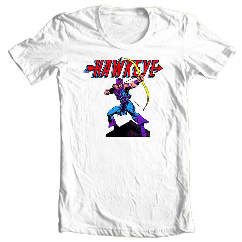 HAWKEYE Marvel Comics T shirt retro 100% cotton graphic superhero movie Avengers