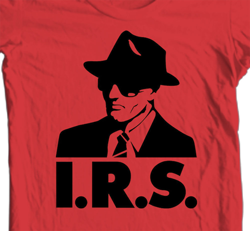 IRS records T shirt retro alternative music R.E.M. Buzzcocks Iggy Pop cotton tee