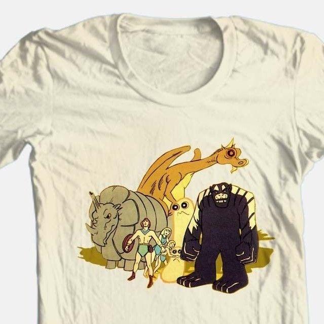 Herculoids T shirt cool retro 80's Saturday morning classic cartoon cotton tee