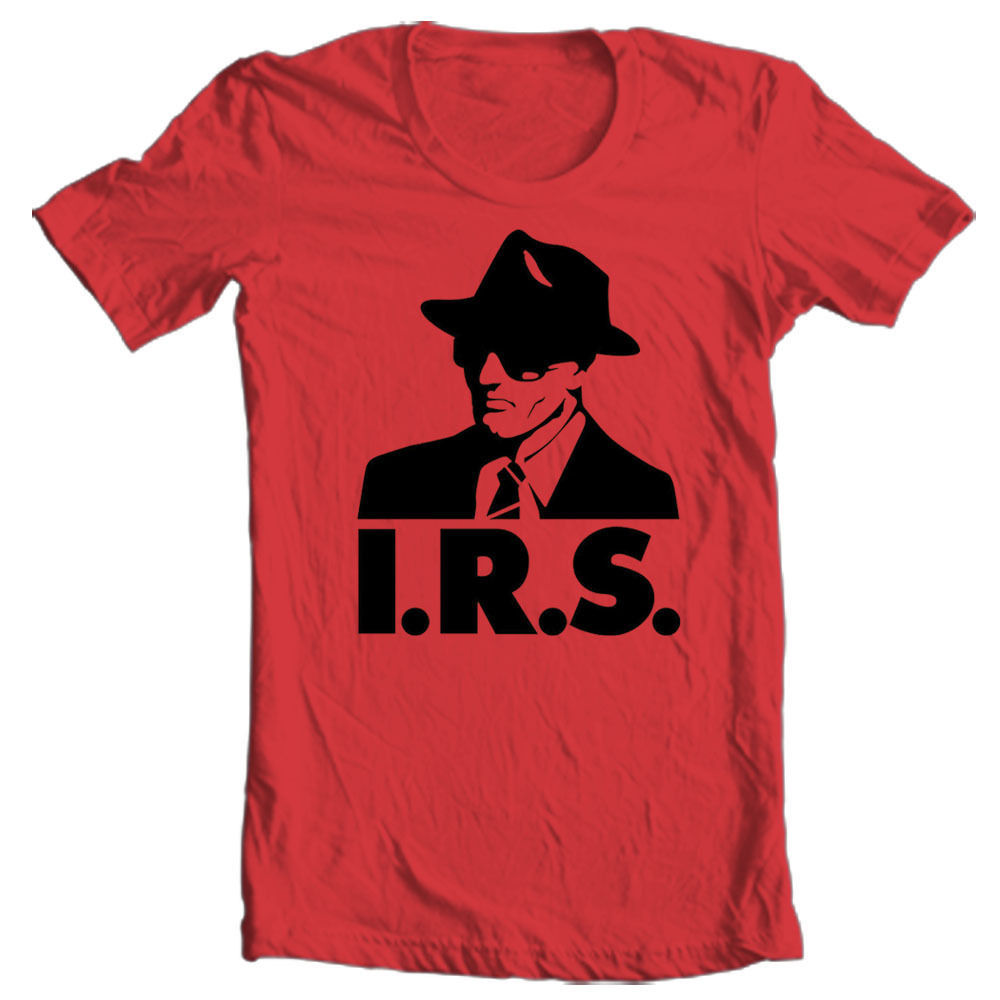 IRS records T shirt retro alternative music R.E.M. Buzzcocks Iggy Pop ...