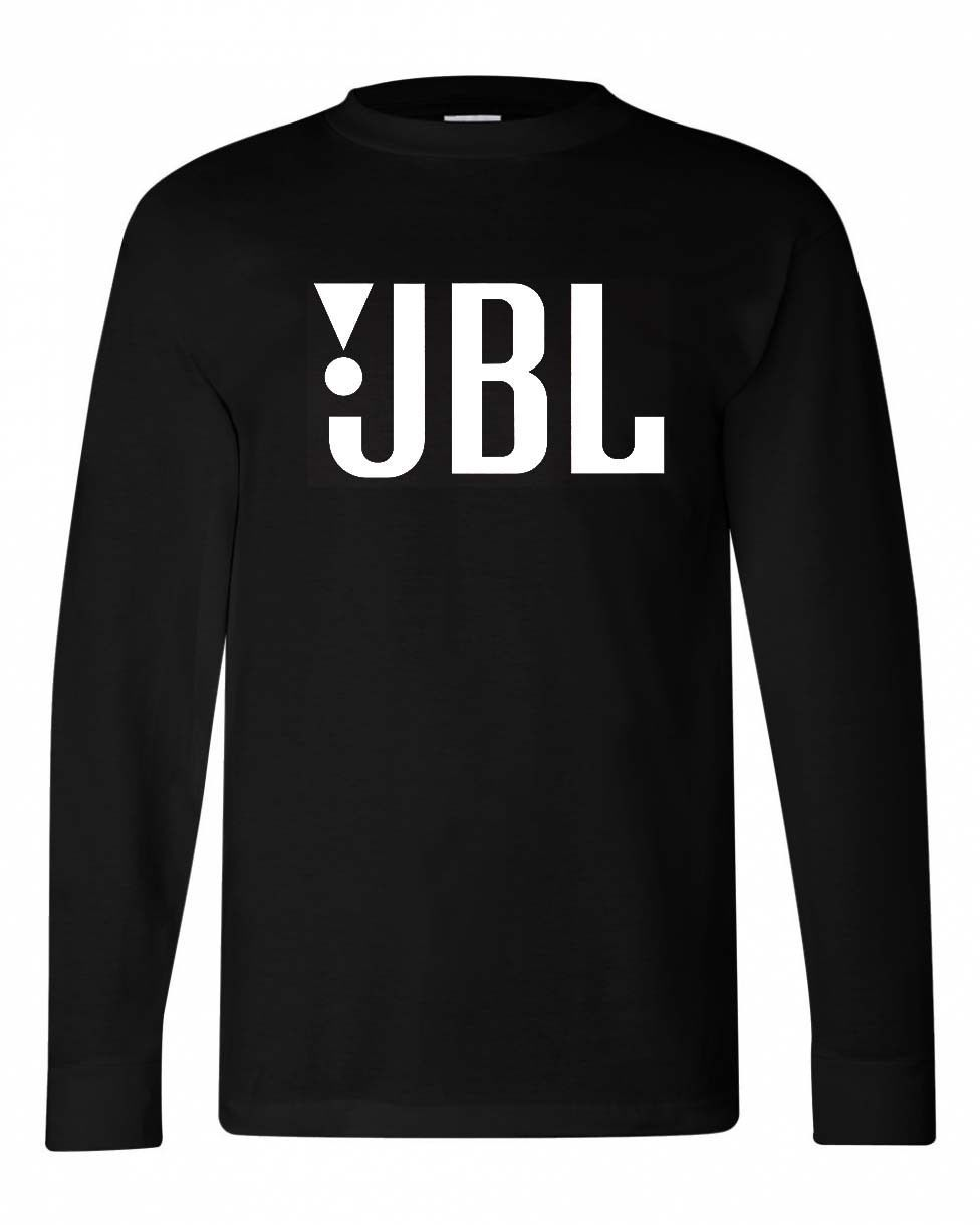 JBL T shirt black cotton long sleeve graphic tee cool car stereo sound speaker