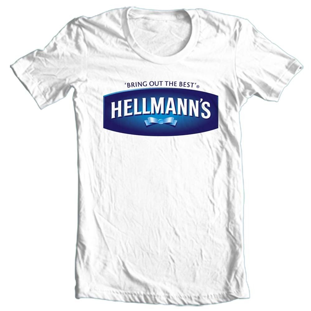 Hellmann's Real Mayonnaise T-shirt retro 70's 80's 100% cotton graphic tee