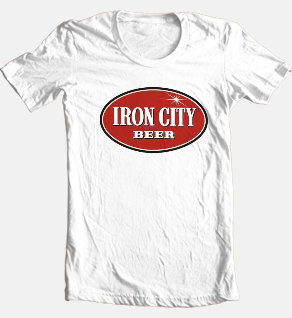 Iron City Beer graphic T-shirt cool retro 80's Pittsburgh football cotton tee