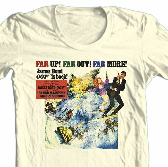 James Bond T-shirt 007 Her Majesty's Secret Service retro cotton graphic tee