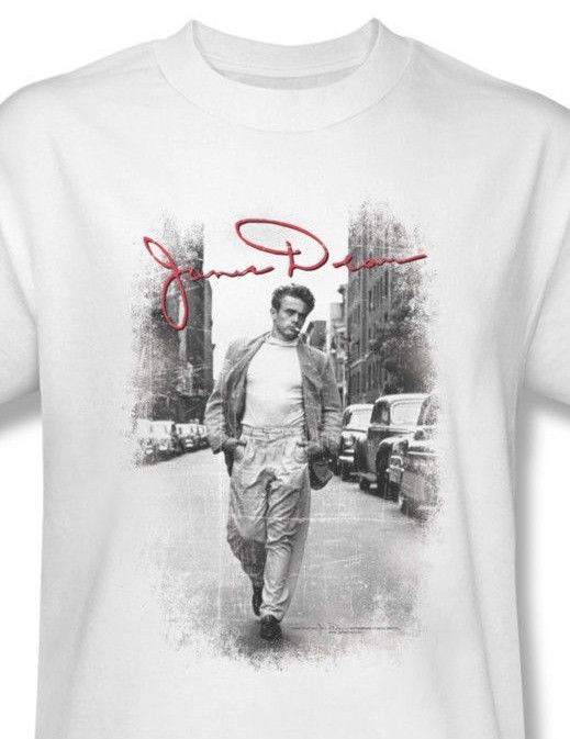 James Dean T-shirt Street Pic retro vintage classic celebrity cotton tee DEA456