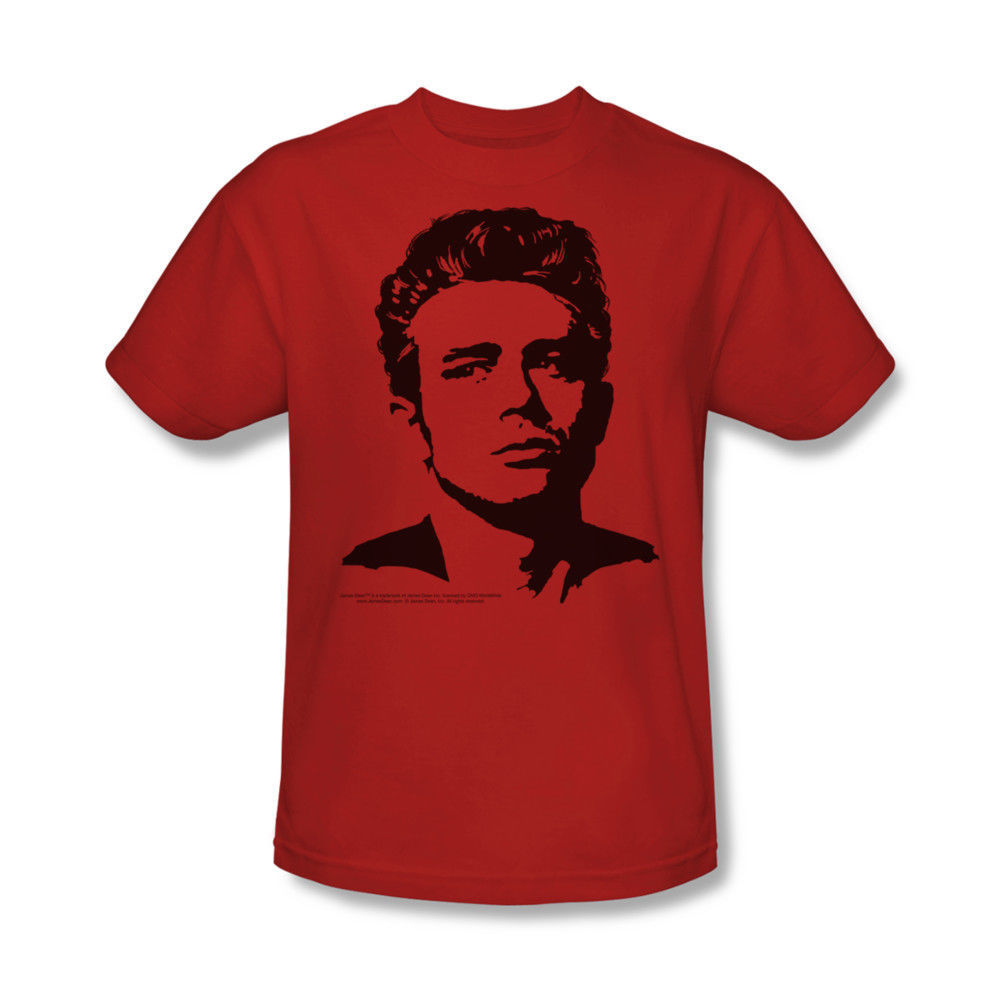 James Dean T-shirt Silhouette vintage celebrity red graphic cotton tee DEA316B