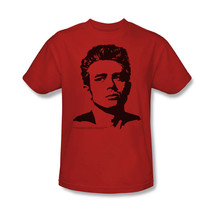 James Dean T-shirt Silhouette vintage celebrity red graphic cotton tee DEA316B image 1