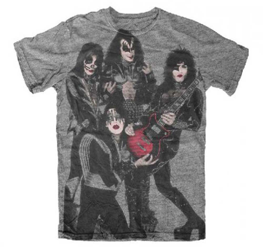 KISS Rocket to Ride gray t-shirt Hard Rock Heavy Metal classic rock tee