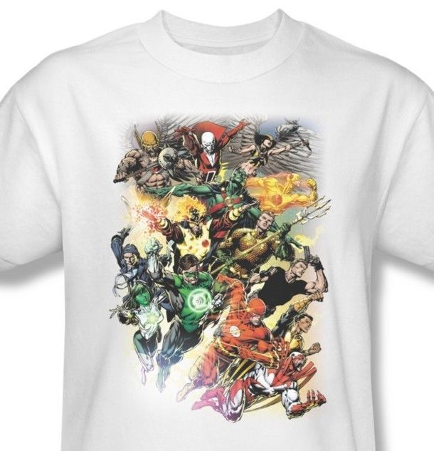 Justice League T-shirt JLA cotton graphic printed tee superhero comics JLA332