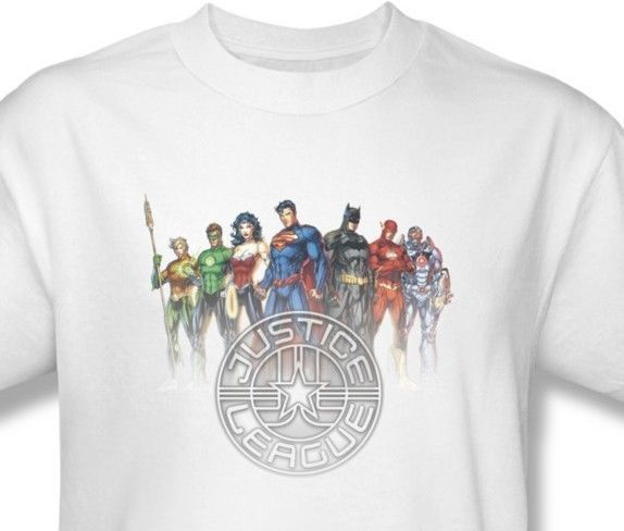 Justice League America T-shirt 100% cotton graphic tee superhero comics JLA369