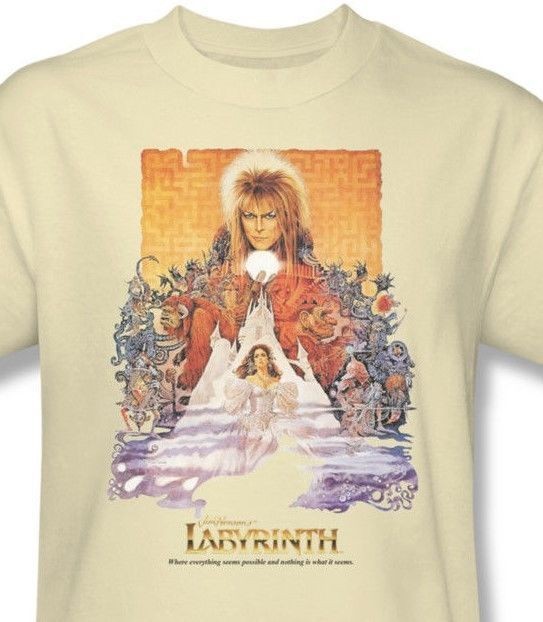 Labyrinth Movie Poster T-shirt retro 80's cool graphic printed cottom tee LAB101