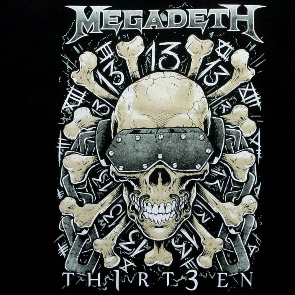Megadeth Thirteen t shirt Dave Mustaine Metallica 80s thrash metal Motorhead tee