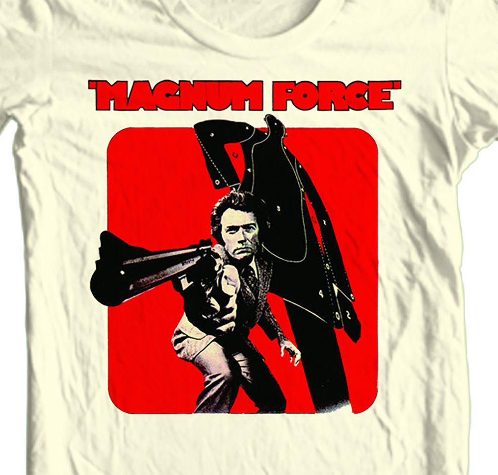 Magnum Force T-shirt Clint Eastwood Dirty Harry 70's retro 80's tees shirt punk