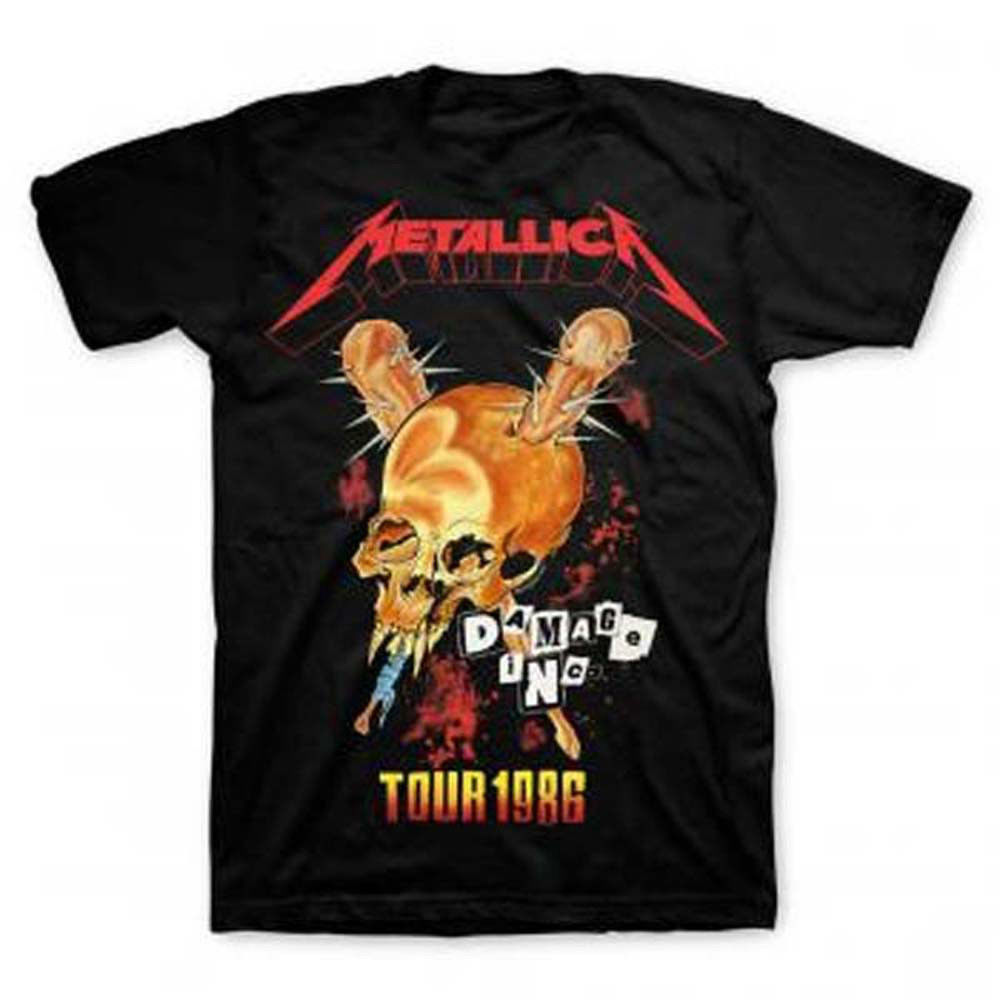 Metallica Tour '86 T-Shirt Damage Inc Kill 'Em All Master of Puppets concert tee