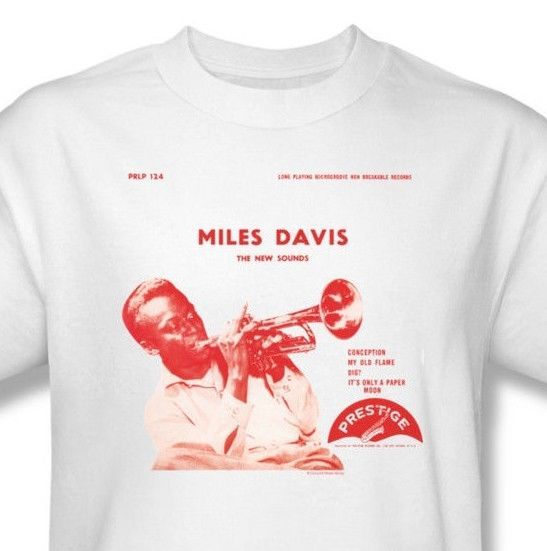 Miles Davis T-shirt retro rock concert blues vintage graphic tee CM139