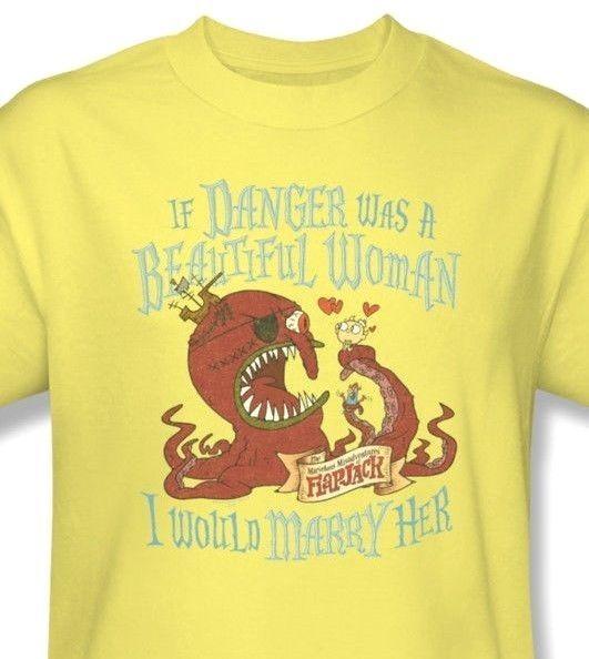 Misadventures of Flapjack Danger T-shirt cartoon network cotton tee CN240