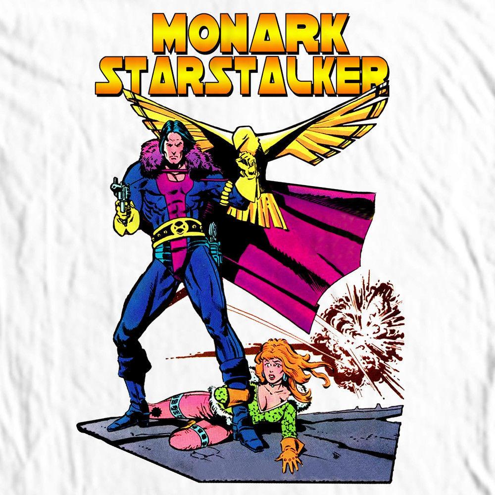 Monark Starstalker T-shirt retro Marvel comics tee Nova Corp Silver Surfer