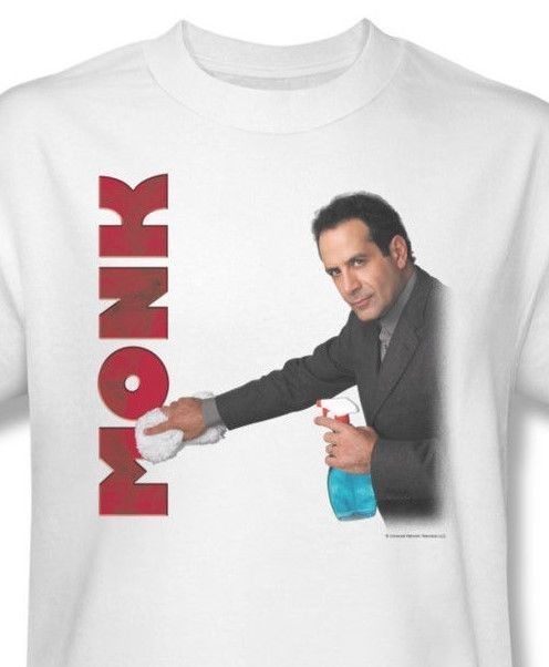 Monk Clean Up T-shirt funny TV show Graphic Printed T-shirt NBC150